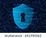 banner cyber security data on... | Shutterstock .eps vector #641590363