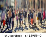 blurred crowd of anonymous... | Shutterstock . vector #641595940