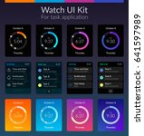 mobile watch ui kit design...