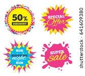 sale splash banner  special... | Shutterstock .eps vector #641609380