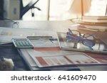 spreadsheet document... | Shutterstock . vector #641609470