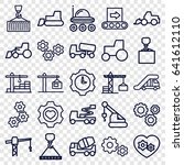machinery icons set. set of 25... | Shutterstock .eps vector #641612110