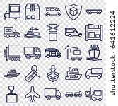 cargo icons set. set of 25... | Shutterstock .eps vector #641612224