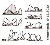 rollercoaster vector vector... | Shutterstock .eps vector #641618080