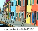 colorful houses in the island