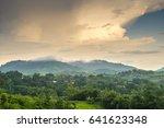 beautiful mountain landscape... | Shutterstock . vector #641623348