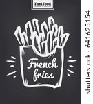 french fries poster with cool... | Shutterstock .eps vector #641625154