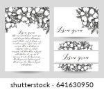 vintage delicate invitation... | Shutterstock .eps vector #641630950