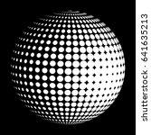 halftone sphere stylized logo. ... | Shutterstock . vector #641635213