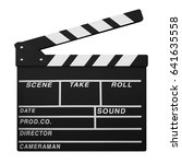 clapperboard isolated on white... | Shutterstock . vector #641635558