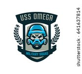 colorful emblem  logo  military ... | Shutterstock .eps vector #641637814