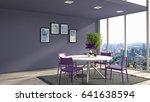 interior dining area. 3d... | Shutterstock . vector #641638594