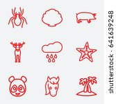nature icon. set of 9 nature... | Shutterstock .eps vector #641639248