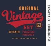 typography vintage denim brand... | Shutterstock .eps vector #641639368