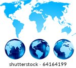 set of globe | Shutterstock .eps vector #64164199
