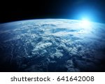 View Of The Planet Earth From...