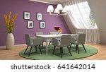interior dining area. 3d... | Shutterstock . vector #641642014