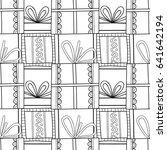 black and white seamless... | Shutterstock .eps vector #641642194