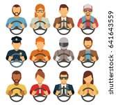 man and woman drivers vector... | Shutterstock .eps vector #641643559