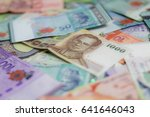 many  currencies in asia. | Shutterstock . vector #641646043