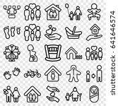 family icons set. set of 25... | Shutterstock .eps vector #641646574
