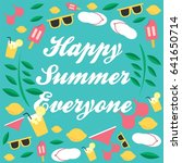 happy summer  | Shutterstock .eps vector #641650714