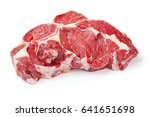 raw beef steaks isolated on... | Shutterstock . vector #641651698