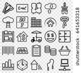 business icons set. set of 25... | Shutterstock .eps vector #641653318