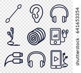 ear icons set. set of 9 ear... | Shutterstock .eps vector #641653354
