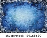 frame from snowflakes with... | Shutterstock . vector #64165630