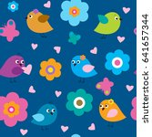stylish seamless pattern with a ... | Shutterstock . vector #641657344