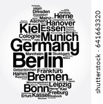 list of cities and towns in... | Shutterstock .eps vector #641663320