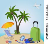 summer vacation. time to travel.... | Shutterstock .eps vector #641663368