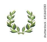 gold laurel wreath   a symbol... | Shutterstock .eps vector #641664283