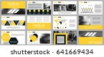 yellow and black elements for... | Shutterstock .eps vector #641669434