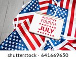 happy fourth of july usa flag | Shutterstock . vector #641669650