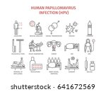 human papillomavirus infection  ... | Shutterstock . vector #641672569