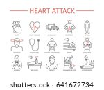 heart attack. symptoms ... | Shutterstock . vector #641672734