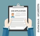 businessman with job... | Shutterstock .eps vector #641680396