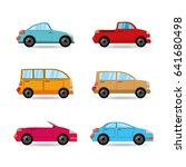 set icon transportation cars of ... | Shutterstock .eps vector #641680498