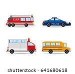 fire truck  police  ambulance... | Shutterstock .eps vector #641680618