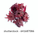 dried candied hibiscus flower... | Shutterstock . vector #641687086
