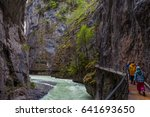 large cliffs with fast river ... | Shutterstock . vector #641693650