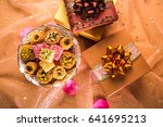 eid festival gift background. a ... | Shutterstock . vector #641695213
