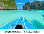 maya bay one of the most... | Shutterstock . vector #641696050