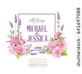 Wedding Invitation With Blosso...