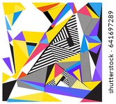 vector of triangle geometric... | Shutterstock .eps vector #641697289