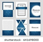 abstract vector layout... | Shutterstock .eps vector #641698000