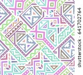 creative ethnic style square... | Shutterstock .eps vector #641702764