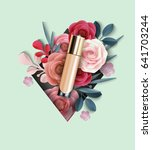 cosmetic product  foundation ... | Shutterstock .eps vector #641703244